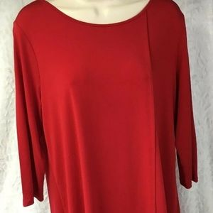 CHICOS Size 1 Tunic Top Short Sleeve Asymmetrical